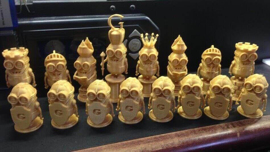 Image of 3D Printed Chess Set Minion Chess Set Chess