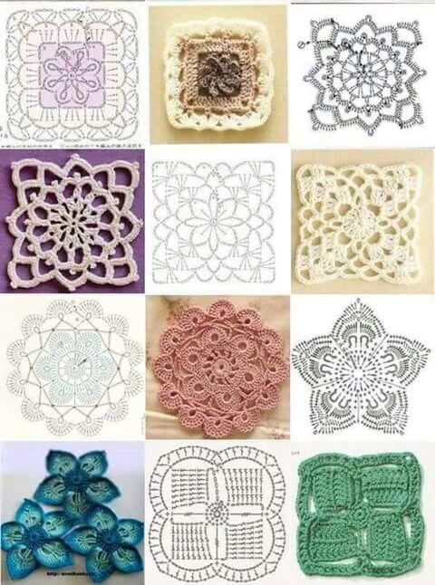 Elementy | b | Pinterest | Encaje de ganchillo, Flores tejidas y ...
