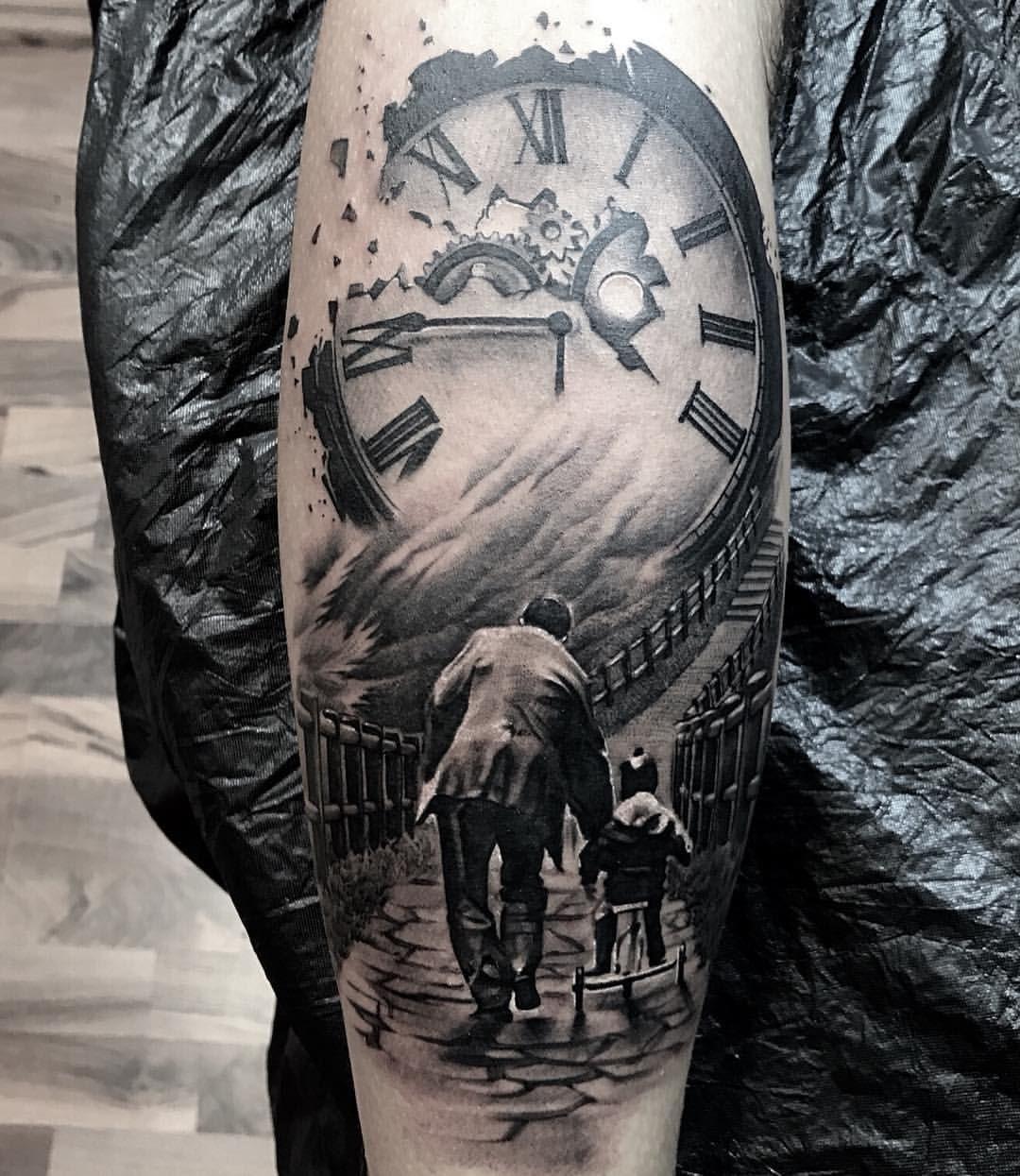 Carlos Rios Espinoza -Skin Memories Tattoostudio. #essen #essencity #essenstadt #essensteele #germany #deutschland #blackandgreytattoo… #grandfathertattoo