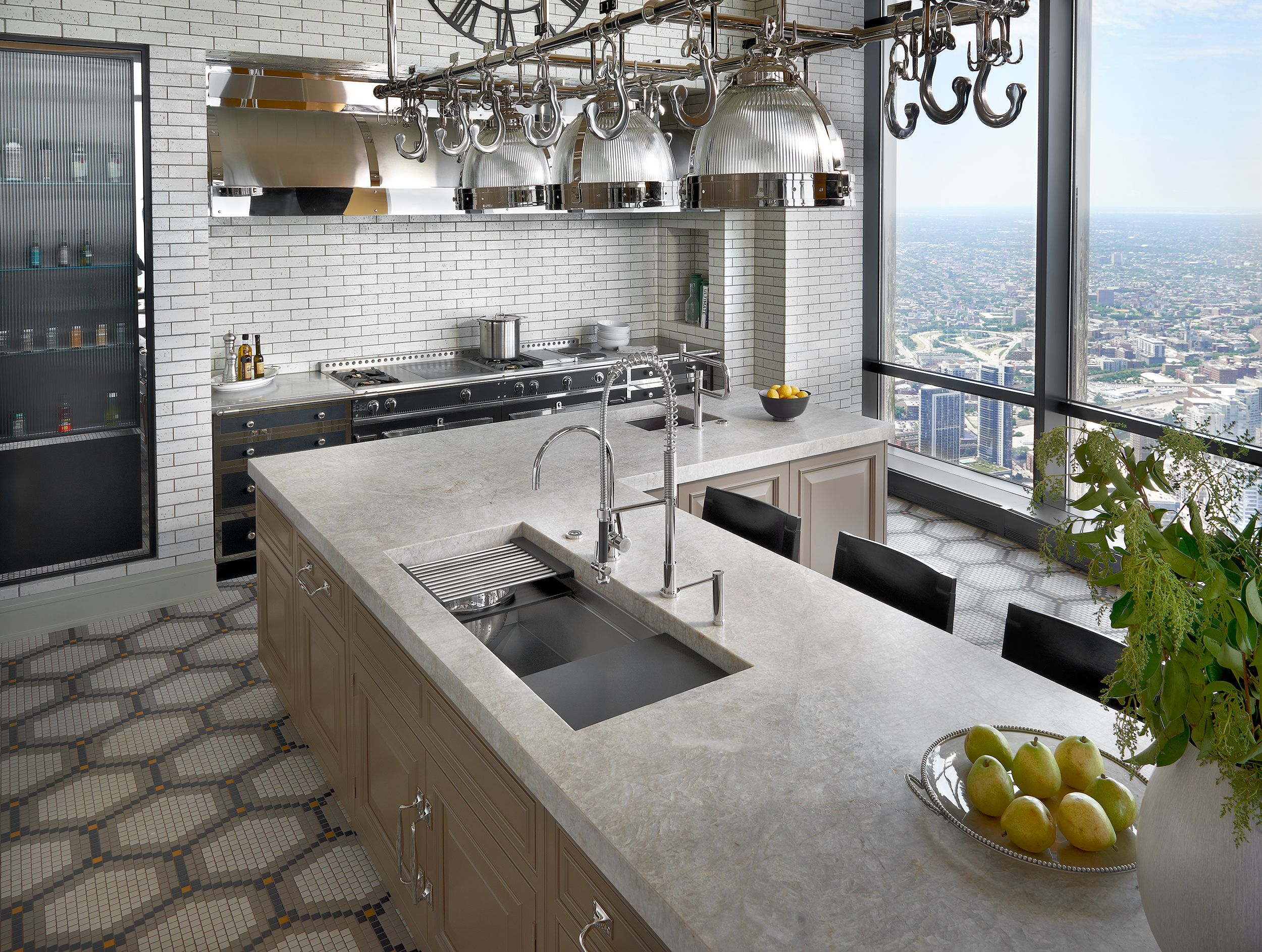 This Galley Ideal Workstation 4 Sits Perfectly In This High Rise