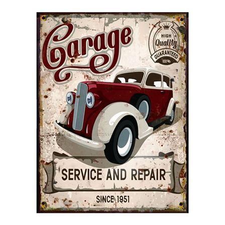 Clémentine Créations Garage Plaque