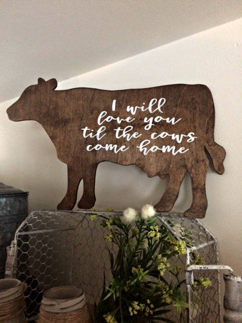 COW SIGN | Farmhouse Decor | Kitchen Decor | Home Decor | Cottage ...
