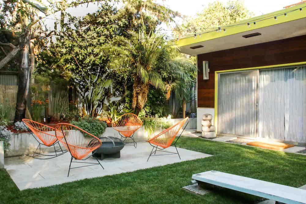 Mid Century Modern Patio Reveal Patio Modern Patio Backyard