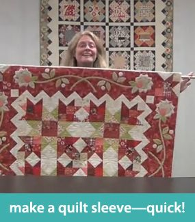 Make a quilt sleeve--quick! | How to Quilt | Pinterest | Tutorials ... : how to make a quilt sleeve - Adamdwight.com
