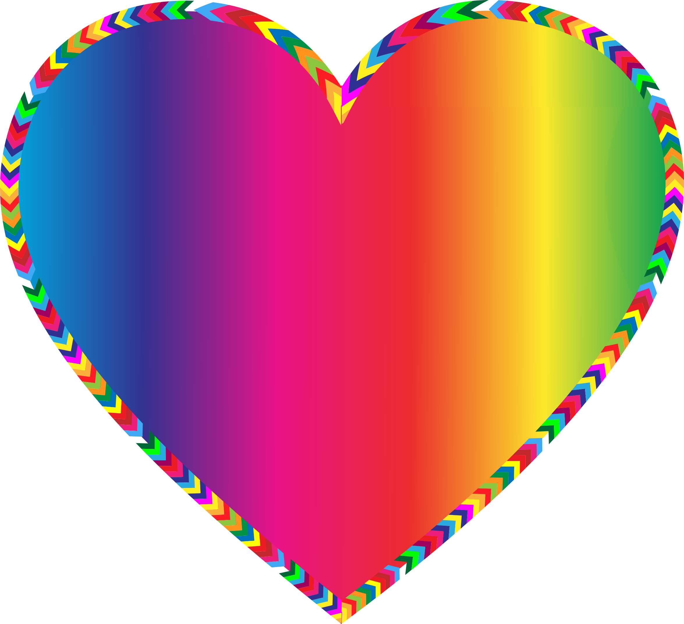 Multi Different Colors Heart Clipart Png Download 2350x2146 Png Download Heart Wallpaper Heart With Arrow Rainbow Heart
