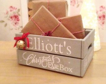 Christmas Eve Crate.Personalised Christmas Eve Crate Christmas Eve Box Kids