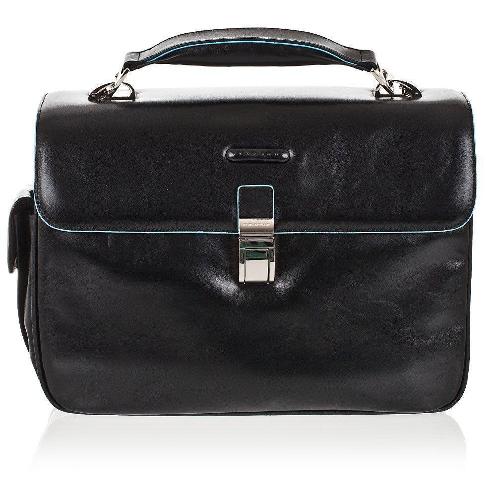 Borse A Tracolla Uomo Piquadro : Details about piquadro blue square small size briefcase