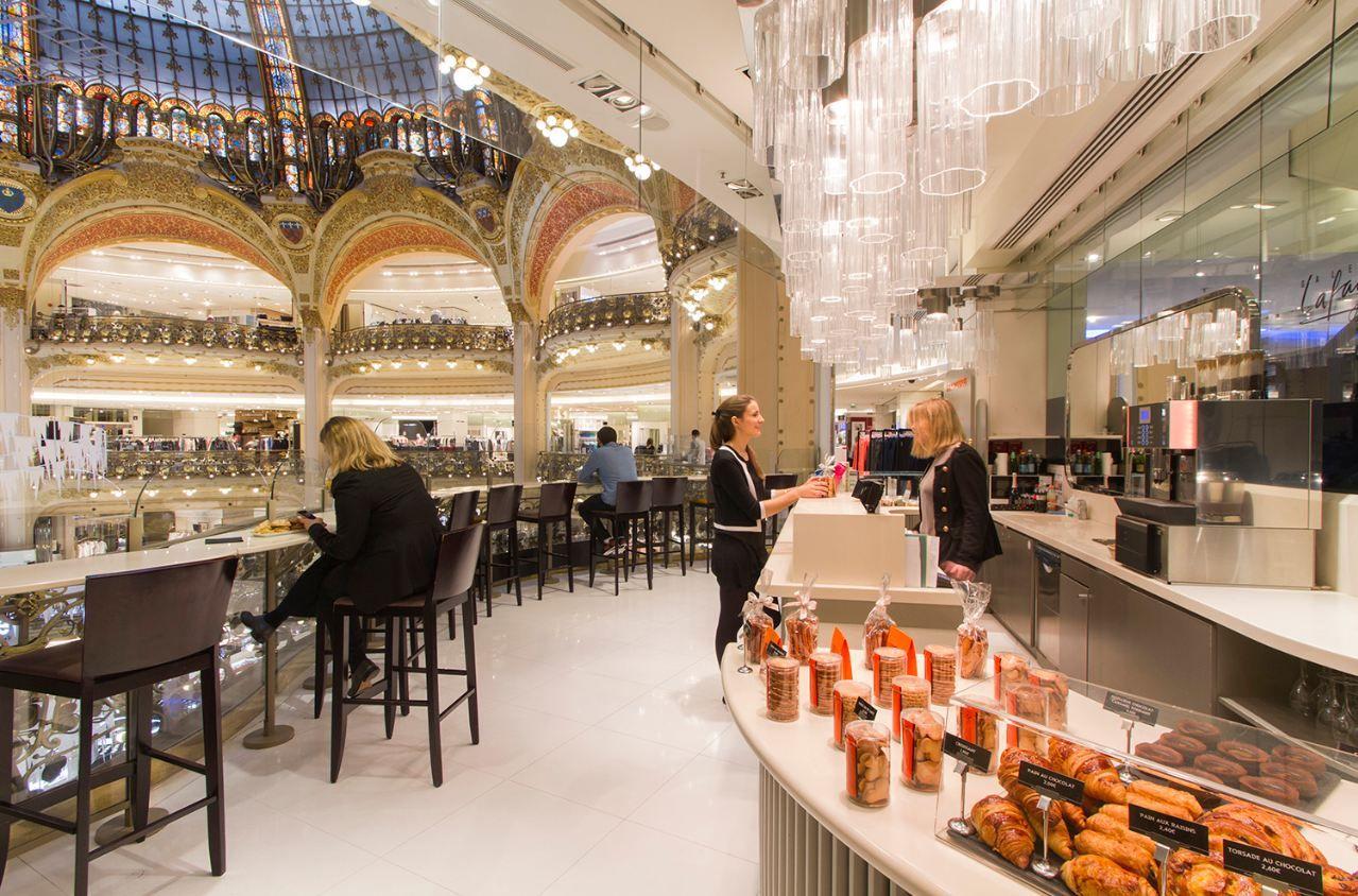 Galeries Lafayette Paris Haussmann Restaurant Paris Coupole Galerie Lafayette Paris