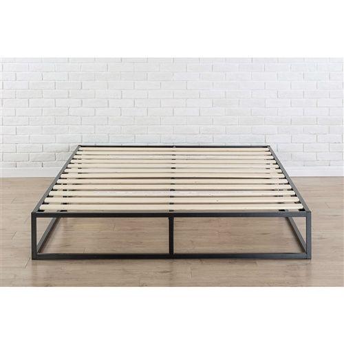 King Size Modern 10 Inch Low Profile Metal Platform Bed Frame With