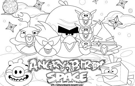 Angry Birds Space Para Colorear E Imprimir Angry 2bbirds 2bspace Bird Coloring Pages Space Coloring Pages Free Coloring Pages
