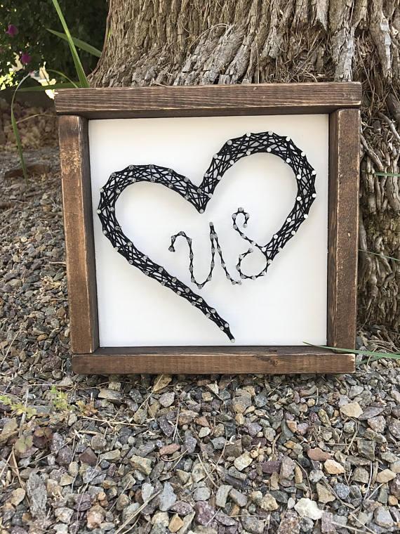 Love Us Decor String Art Heart String Art Anniversary Gift
