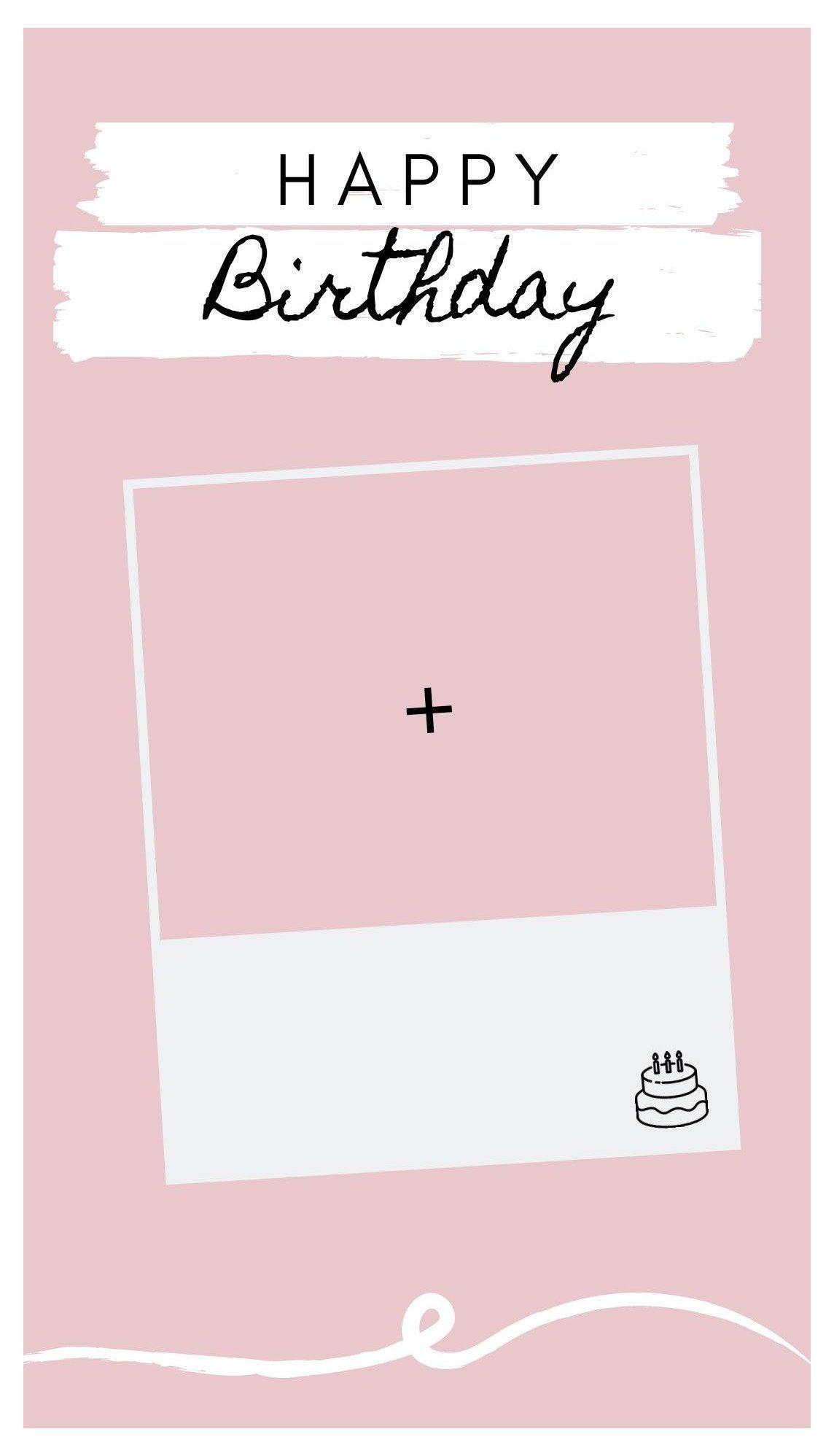happy birthday template aesthetic