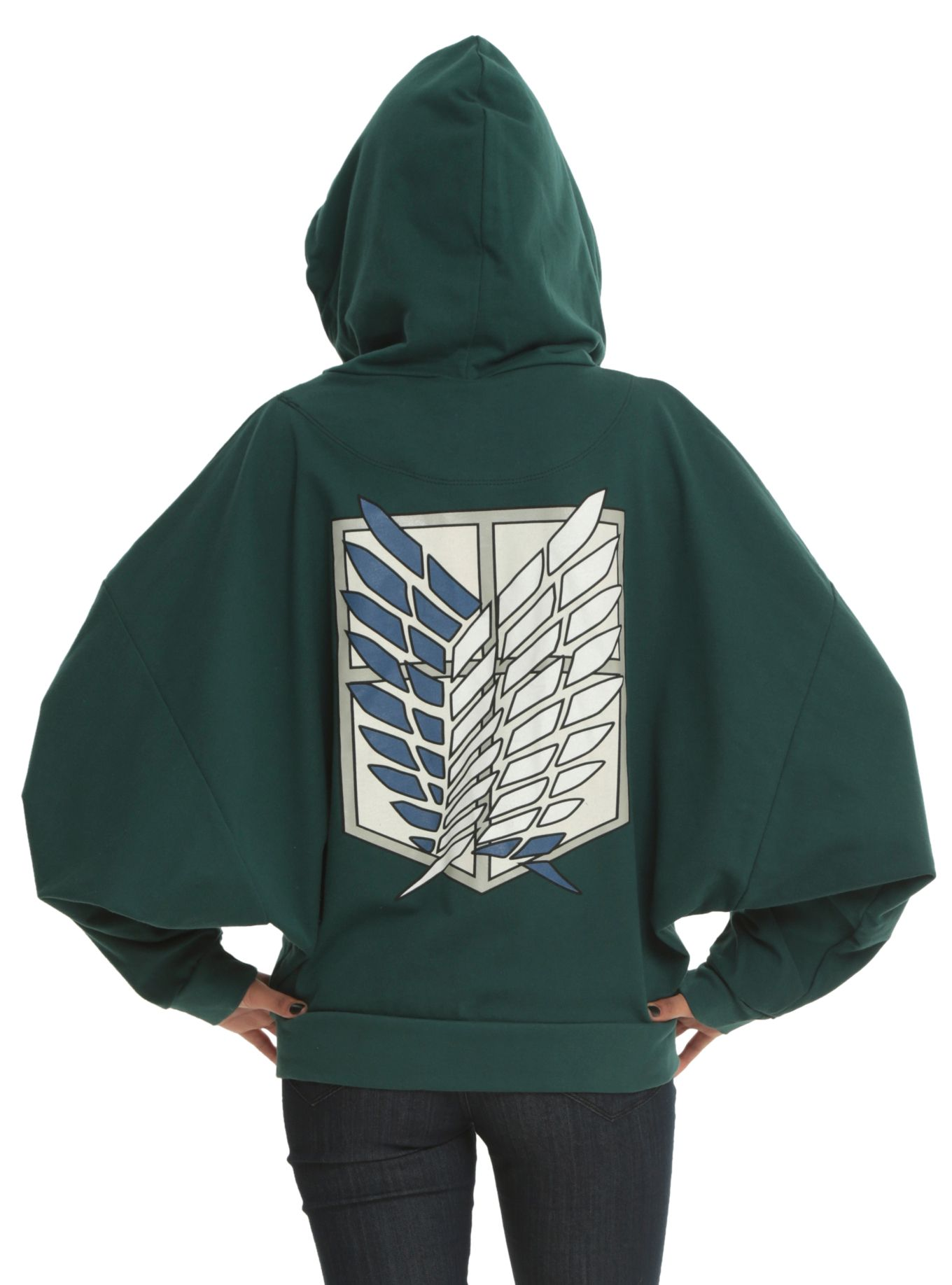 21a16e9ee76 How cute is this  It even has dolman sleeves! Attack On Titan Scout  Regiment Costume Girls Zip Hoodie