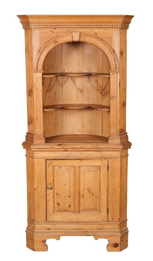 Pine Antique Corner Cabinet - Pine Antique Corner Cabinet Antique Corner Cabinet, Pine And Corner