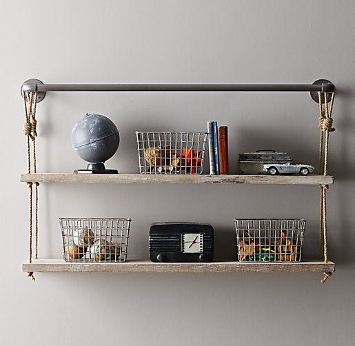Industrial Pipe & Rope Shelf | Accessorizing | Rope shelves ... on tv for kitchen ideas, shelf bar ideas, shelf garage ideas, hutch for kitchen ideas, storage for kitchen ideas, shelf garden ideas, lighting for kitchen ideas, countertop for kitchen ideas, shelf decorating ideas, wall for kitchen ideas, cabinets for kitchen ideas,