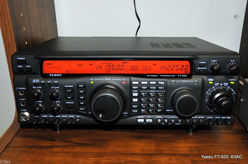 Yaesu ft 920 HF 6M All Mode DSP Amateur Transceiver w EXTRAS
