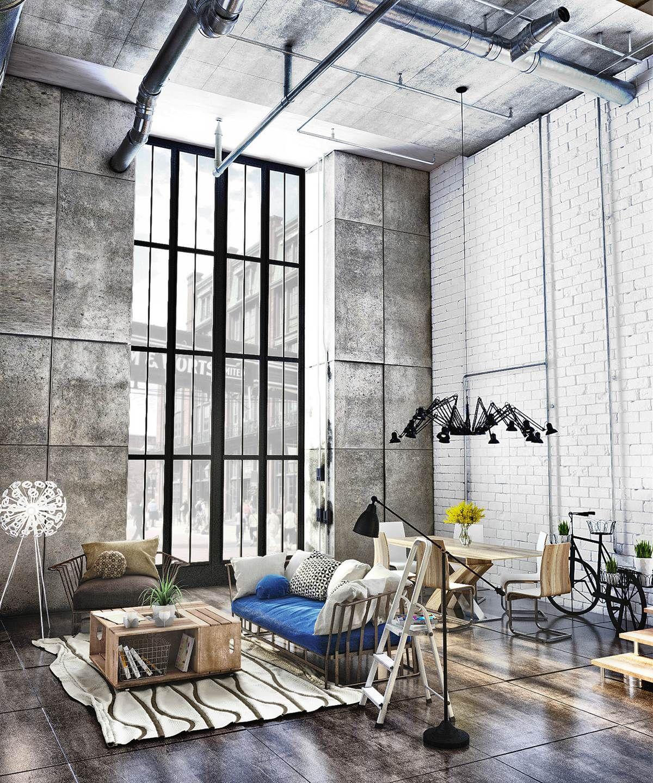 Neue wohnzimmer innenarchitektur um blog sobre coisas lindas e bem mulherzinha  industrial