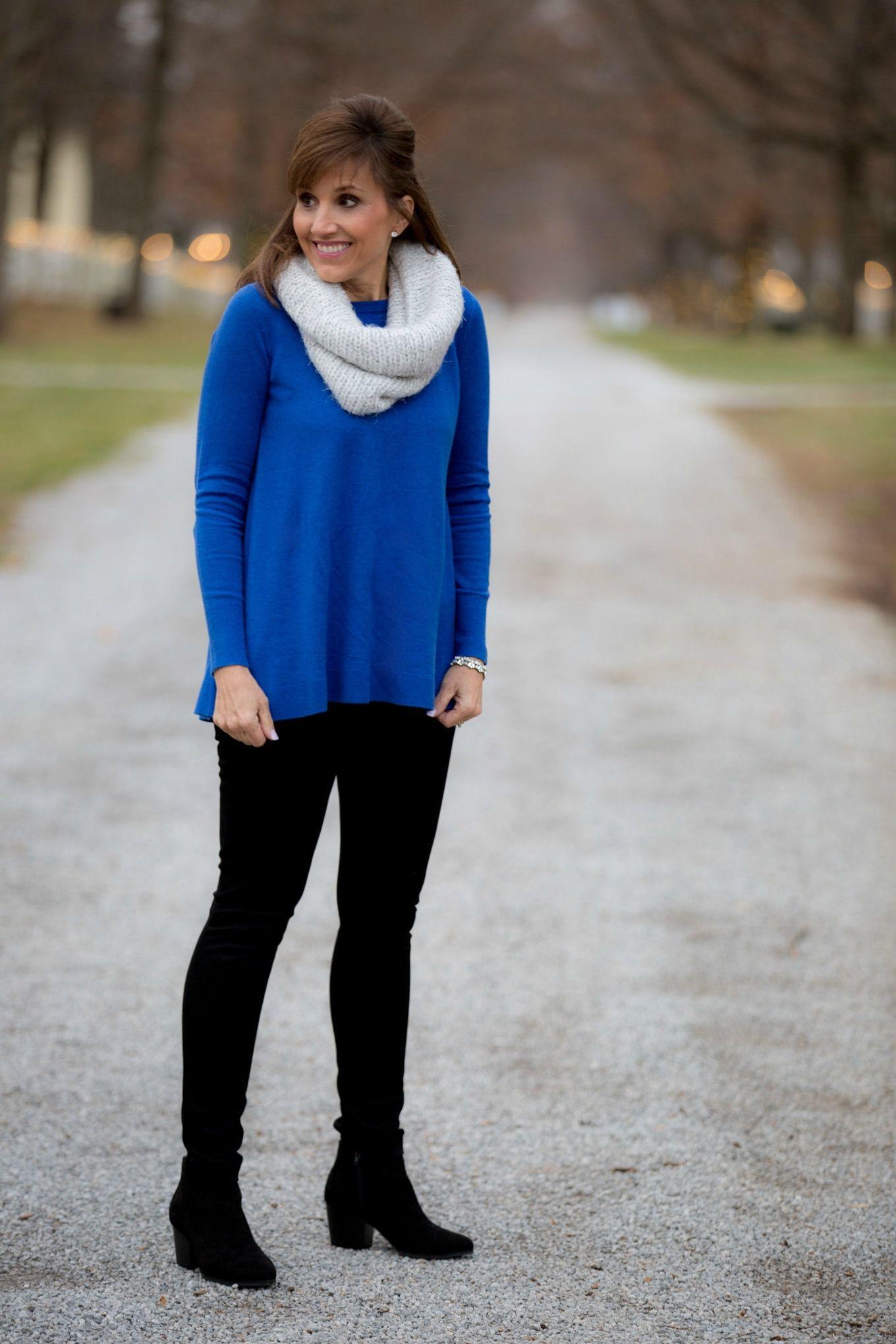 Royal Blue Sweater from Loft-Winter Fashion | Royal blue sweater ...