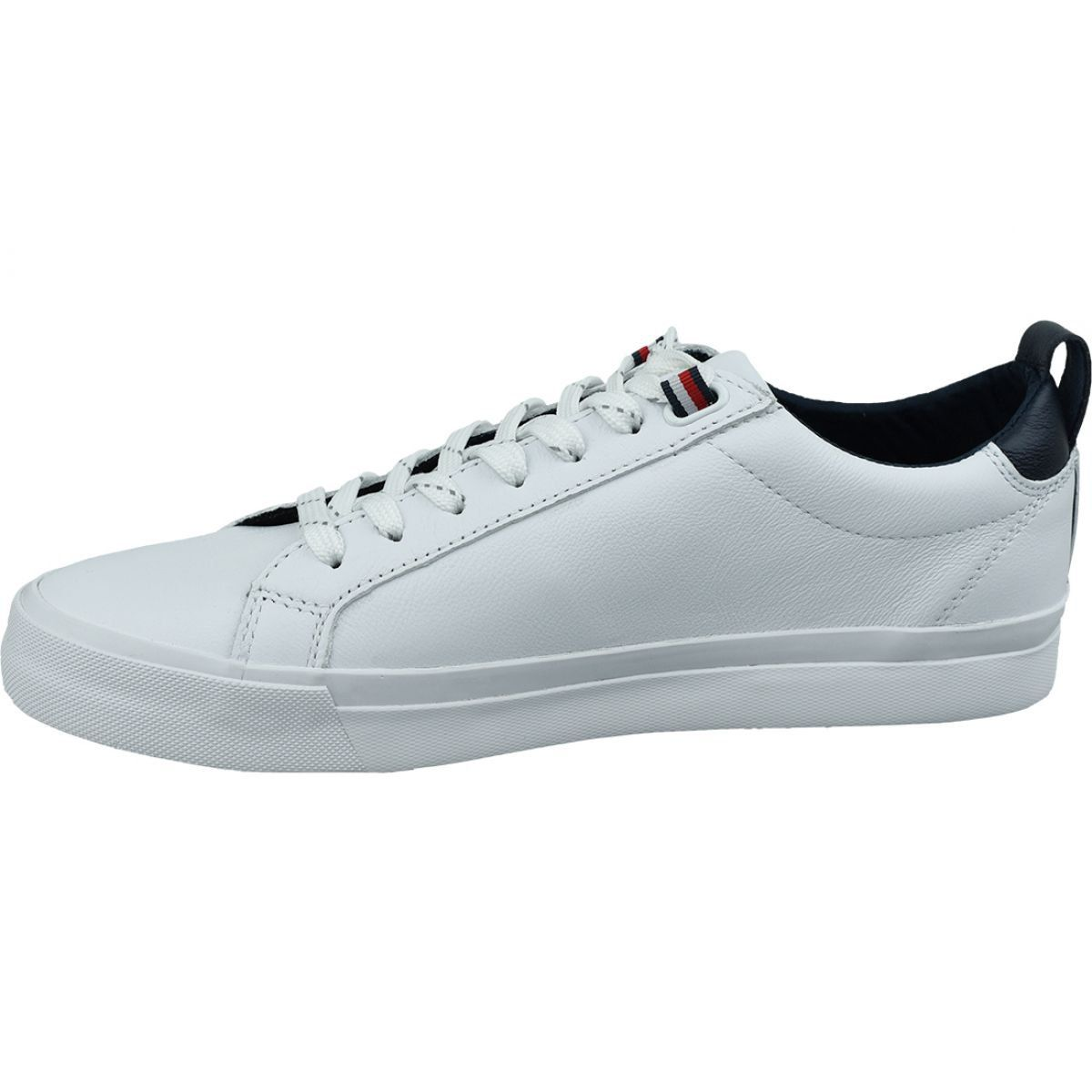 Buty Tommy Hilfiger Flag Detail Leather Sneaker M Fm0fm02576 Ybr Biale Leather Sneakers Sneakers Leather