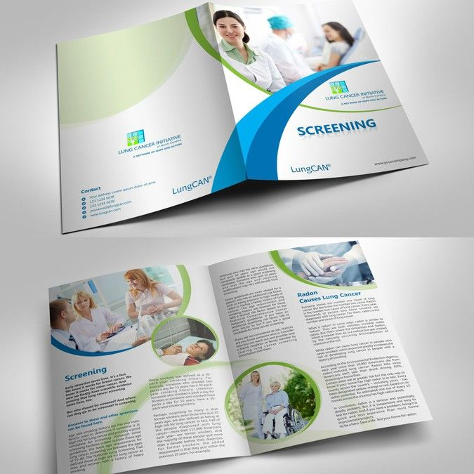 freelance create a brochure template for nonprofit lung cancer