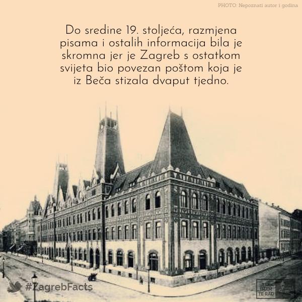 Posta U Starom Zagrebu Zagreb Landmarks Building
