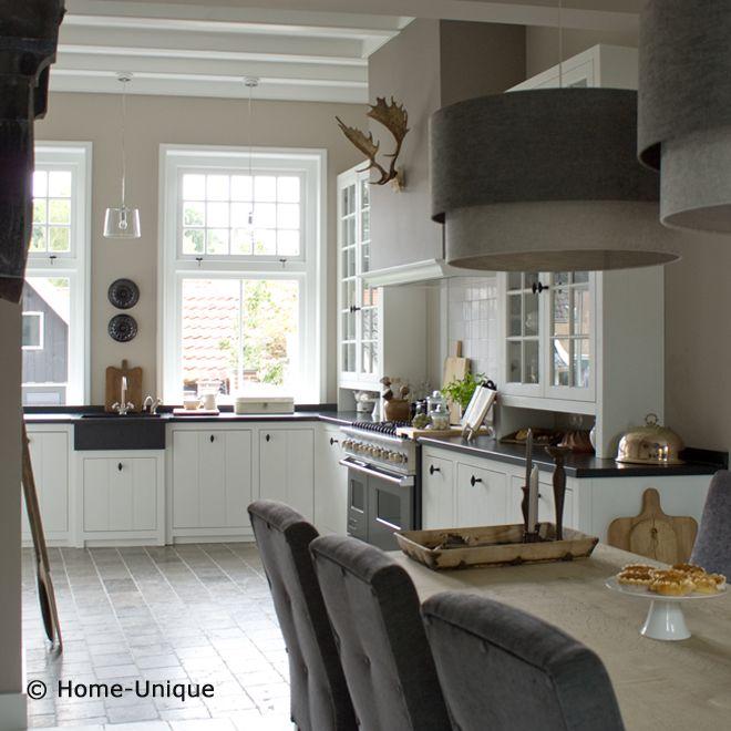 Landelijke woonkeuken home kitchen keuken for Moderne binnenhuisarchitectuur