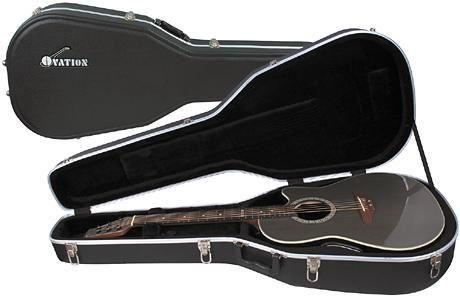 Ovation 8158 Guitar Case Black By Ovation 83 59 Molded Hardshell Case For Ovation Mid Depth Bowl Acoustic Guitars Ovation Guitar Guitar Case Guitar