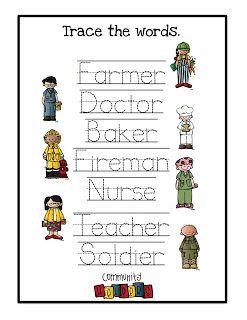 Preschool Printables Community Helpers Community helpers