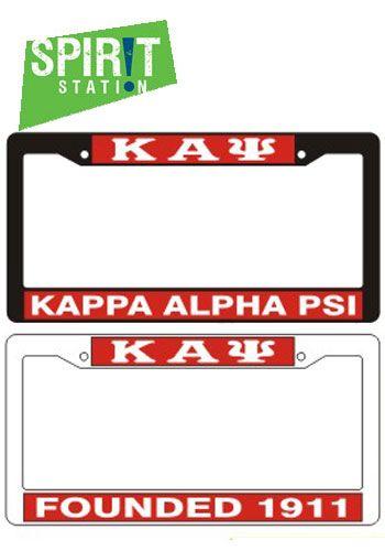 Kappa Alpha Psi Plastic License Plate Frame Kappa Alpha Psi