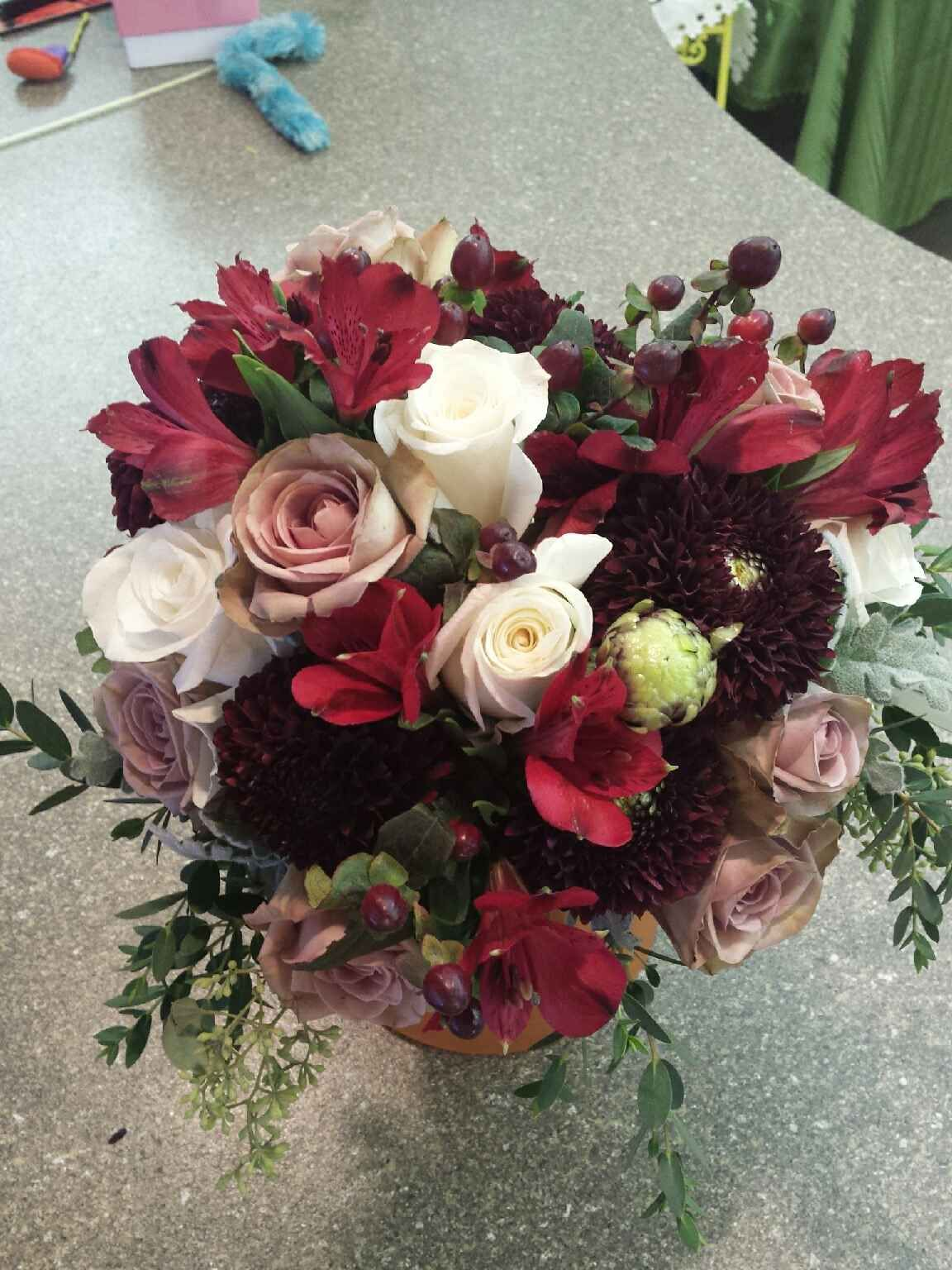 Burgundy Taupe And White Bouquet Featuring Burgundy Dahlias Amnesia Roses White Roses Burgundy Alstromeria A Wedding Bouquets White Bouquet Burgundy Dahlia