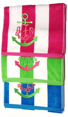 Monogram Beach Towel, Beach Towel, Monogrammed Towel, Personalized Towel, Monogram  Towel,