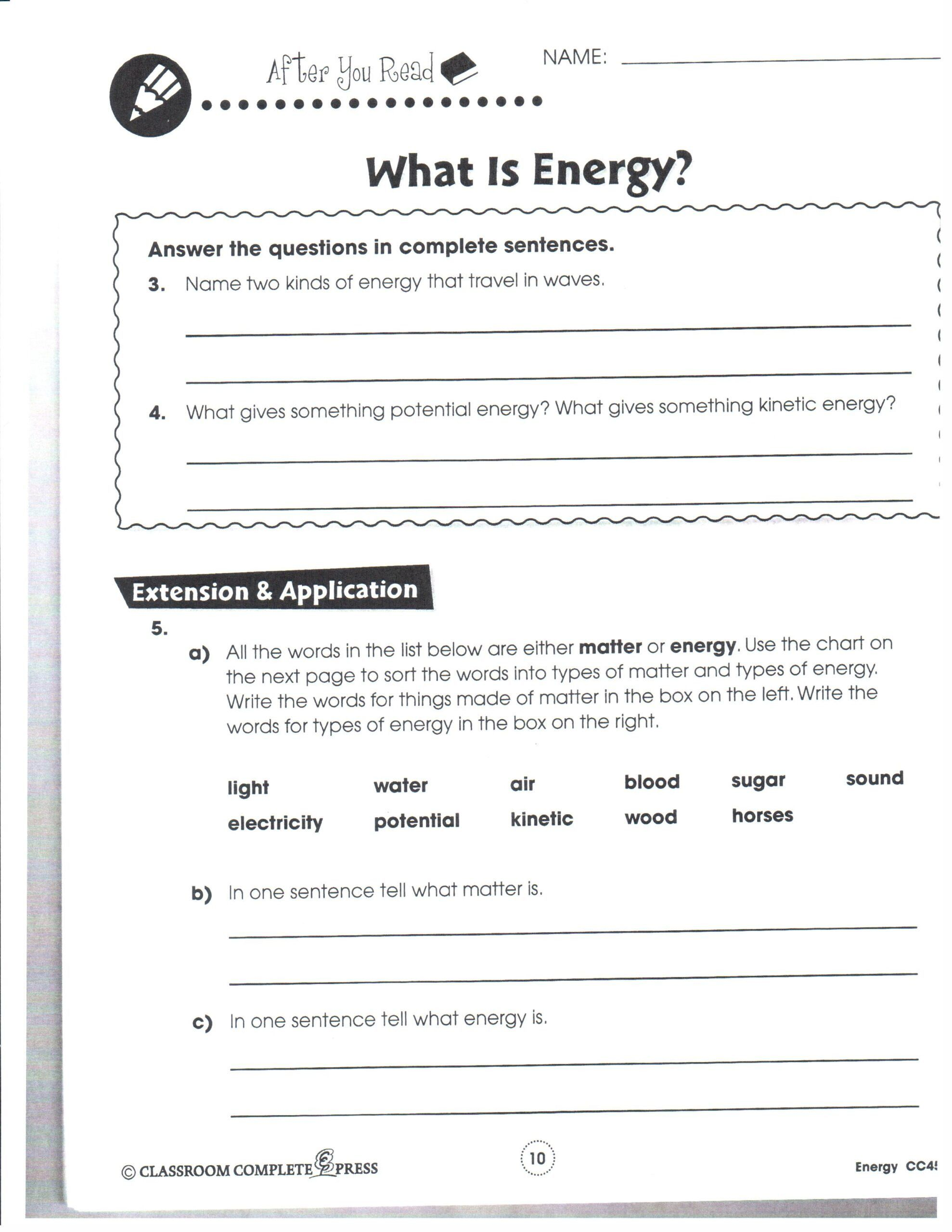 46++ 8th grade science worksheets pdf Images