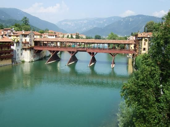 Bassano del Grappe, just a short drive from Treviso, Italy is famed for its's wooden bridge and WW I & II history