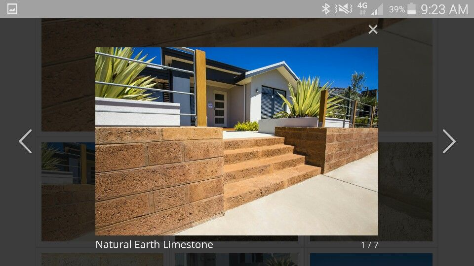 Natural earth limestone blocks
