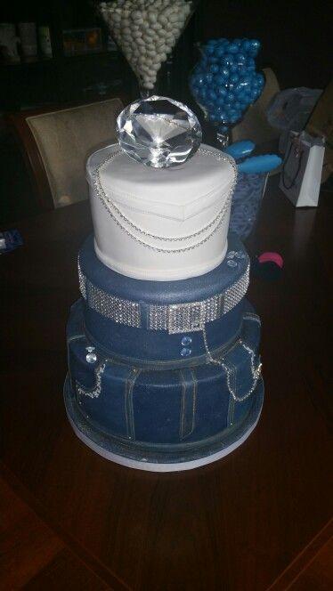 Denim Amp Diamonds Cake Lavish Cupcakes Vaughan On