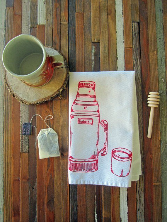 Cloth Napkins - Eco Friendly Dinner Napkins - Screen Printed Napkins - Camping Thermos - Table Setting - Cloth Napkin Set - Cocktail Napkins #clothnapkins