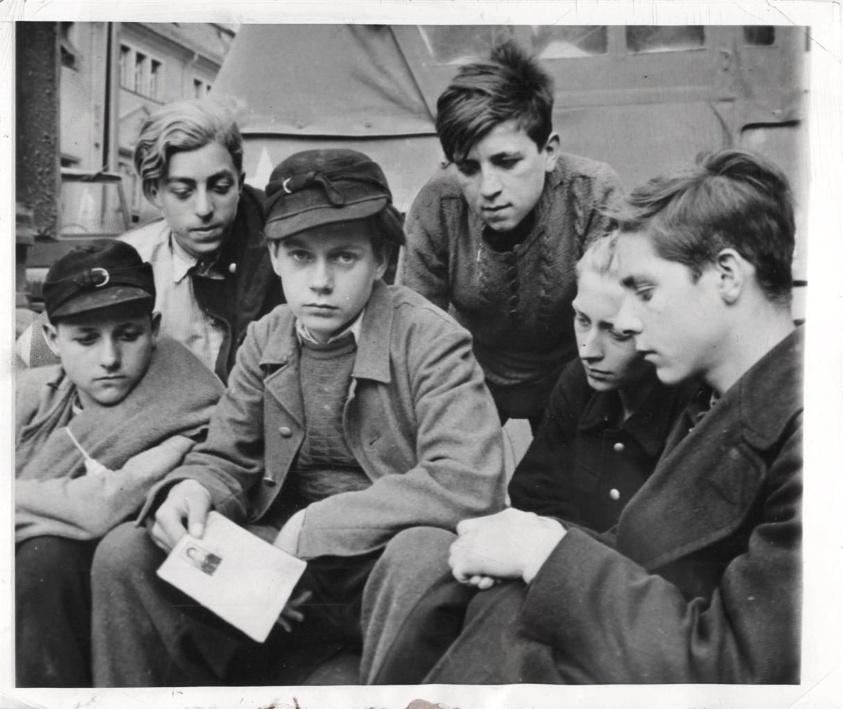 boys in the hitler youth make toys for christmas ww children 1945 german boys all members of the hitler youth captured by the u s