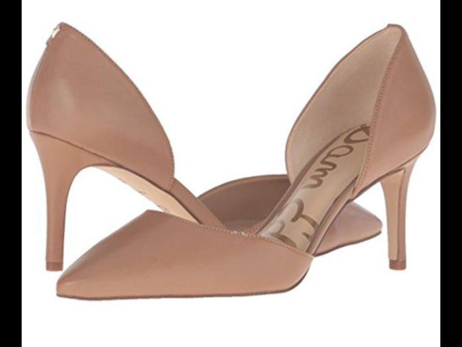 cfb372d08 Sam Edelman Women s Telsa D Orsay Pumps High Heel Pointed Toe Beige ...