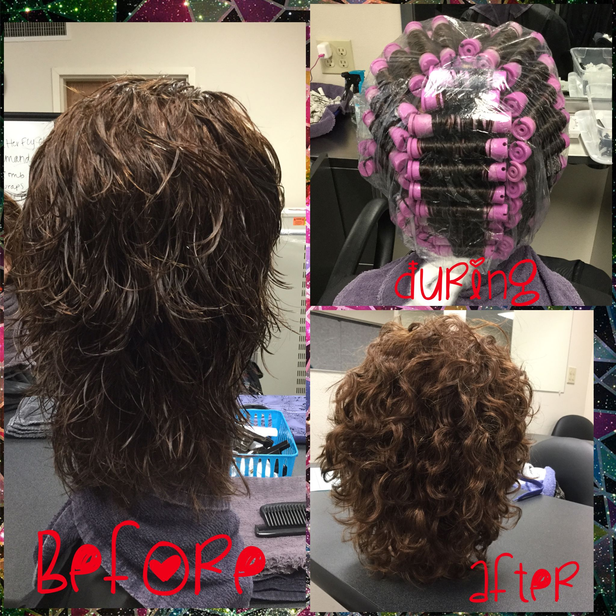 Straight perm solution - This Service Consisted Of A Permanent Wave Using Classic Body Perm Solution
