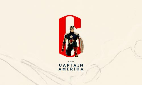 C is for Captain America || Avengers A-Z || 500px × 300px || #fanedit