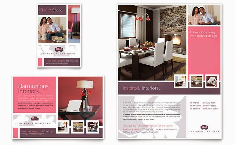 Top 20 Furniture and Template Catalog Brochures Real Estate - interior design brochure template