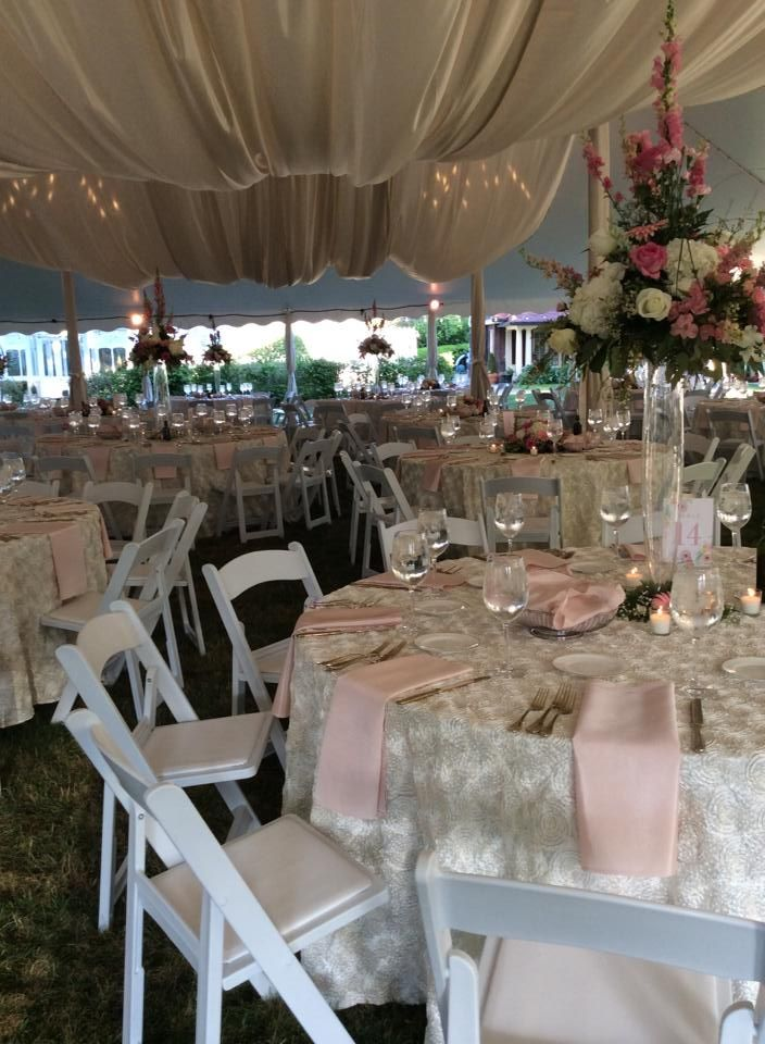 Tented Wedding At The Frick Art Historical Center Pittsburgh Pa Blush Pink Table Setting Partysa Pink Table Settings Reception Table Settings Event Tent
