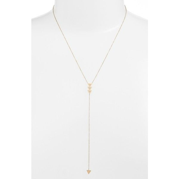 Zoë Chicco Three Triangle Diamond Y-Necklace (895 CAD) ❤ liked on Polyvore featuring jewelry, necklaces, yellow gold, 14 karat gold charms, diamond jewelry, triangle jewelry, diamond triangle necklace and diamond charm necklace