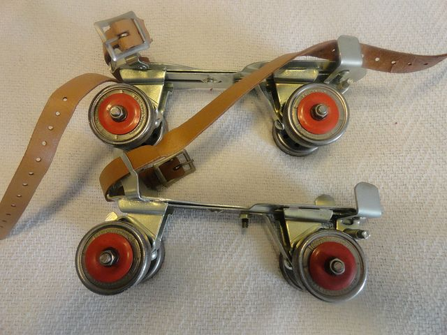 VTG Retro Toy 1950s UNION BRUNSWICK Metal Roller Skates No 5 | Flickr - Photo Sharing!