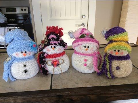 Sher's Sock Snowman Tutorial!!⛄️❤️⛄️❤️