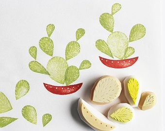 hand carved rubber stamps, ink pads, cards & textiles by talktothesun