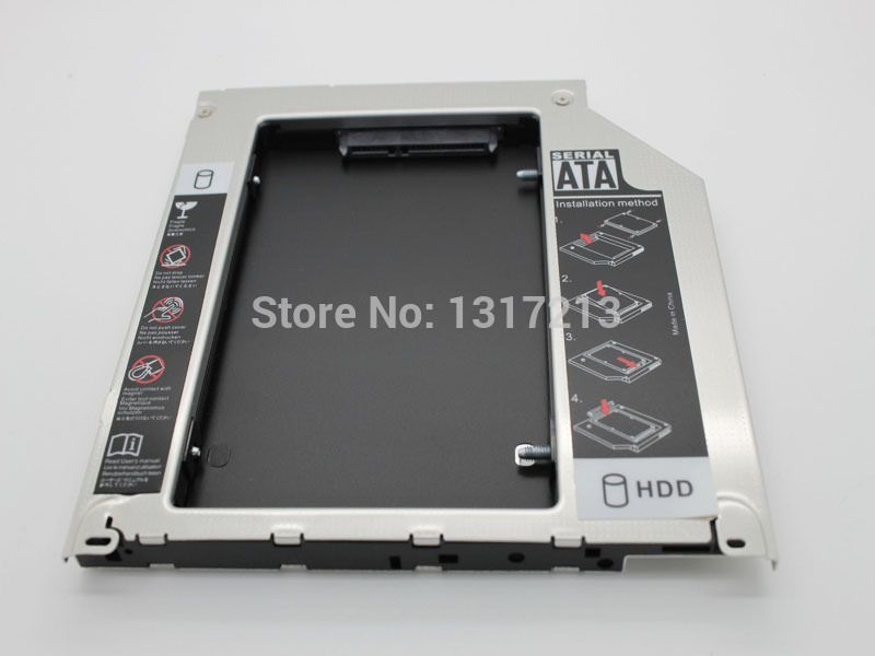 For Acer 4810tg 4820tg 4830tg 5810tg 5820tg 5830tg 2nd HDD SSD hard drive caddy 9.5MM
