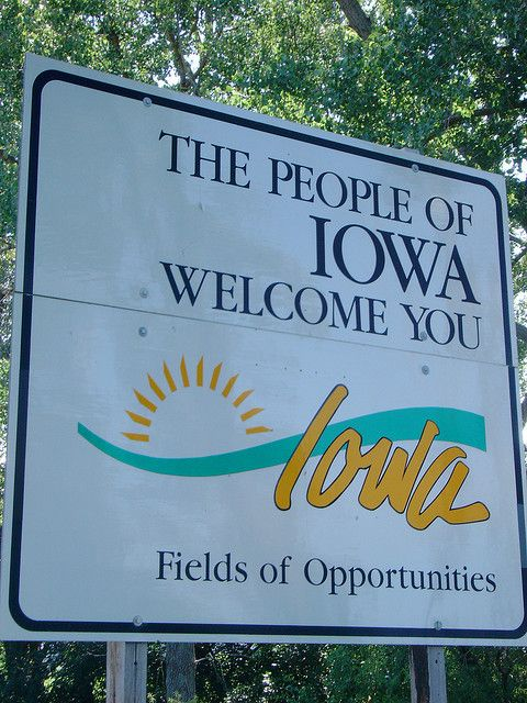 The People Of Iowa Welcome You Sign Monona County Iowa Iowa