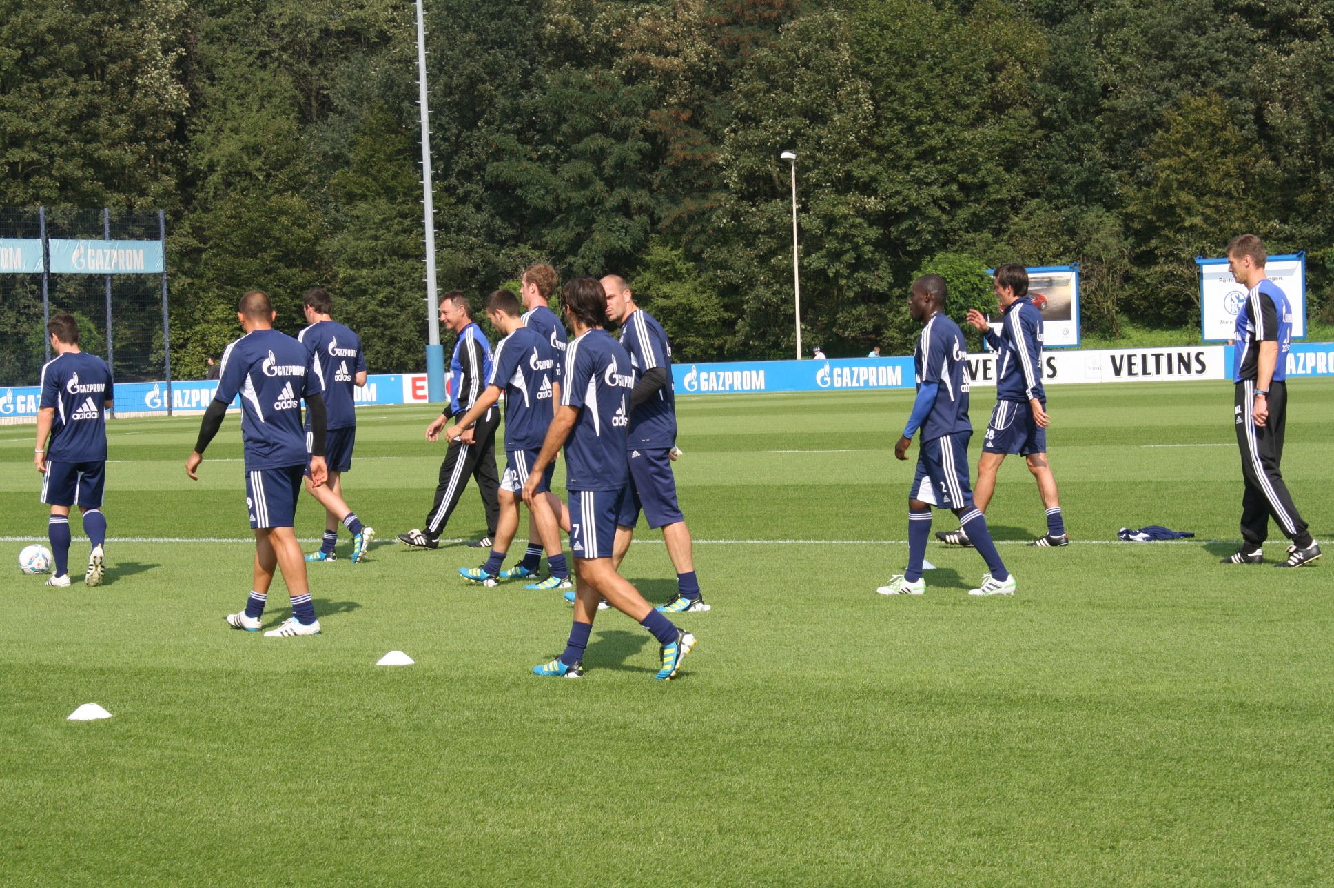Schalke macht Training