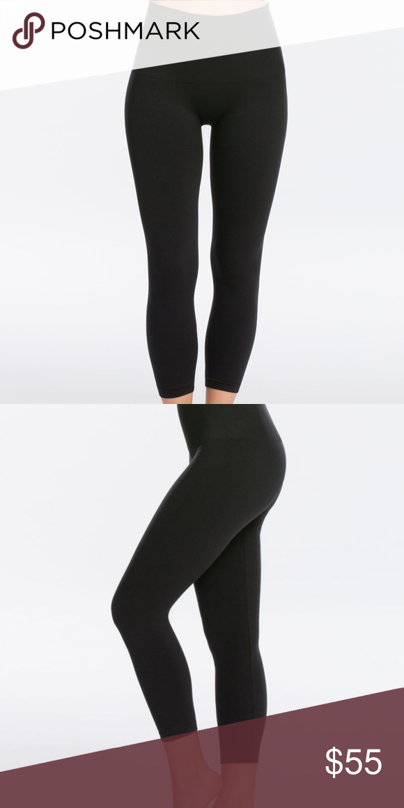 bd6b6e47f96b78 NWT, Spanx Cropped Look at Me Now Leggings- 1X These are brand new with  tags, spanx look at me now seamless leggings. Color is VERY BLACK and they  are the ...